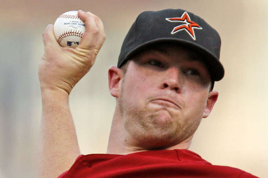 Astros starter Bud Norris surrendered seven runs (four earned) in 4 2/3 innings. Photo: Gene J. Puskar, AP
