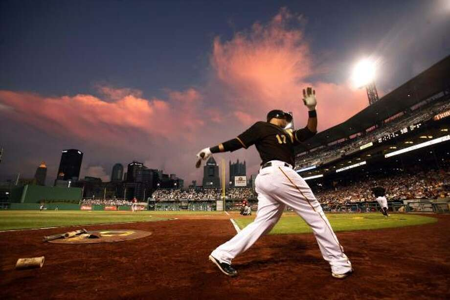 July 16: Astros 5, Pirates 2Pirates third baseman Pedro Alvarez warms up on deck before an at-bat in the seventh inning. Photo: Gene J. Puskar, AP