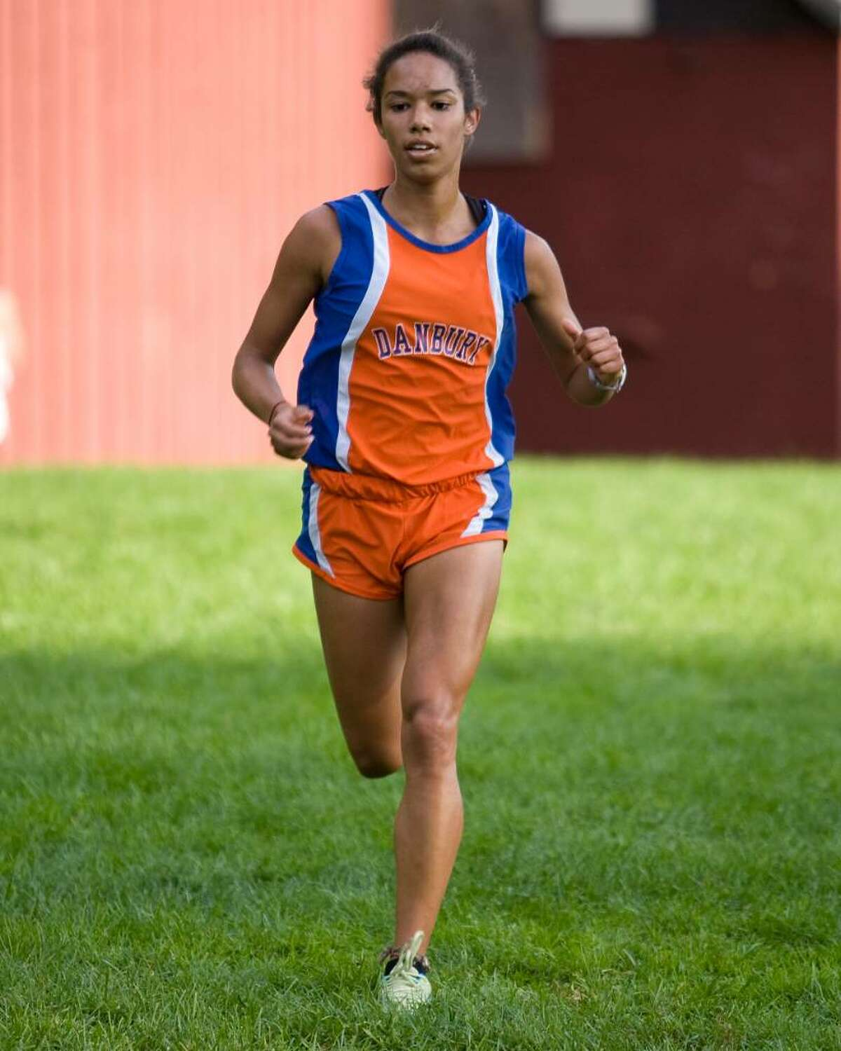 Emily Campbell's fourth place finish led the Danbury High girls in a cross country meet Tuesday at Tarrywile Park in Danbury.