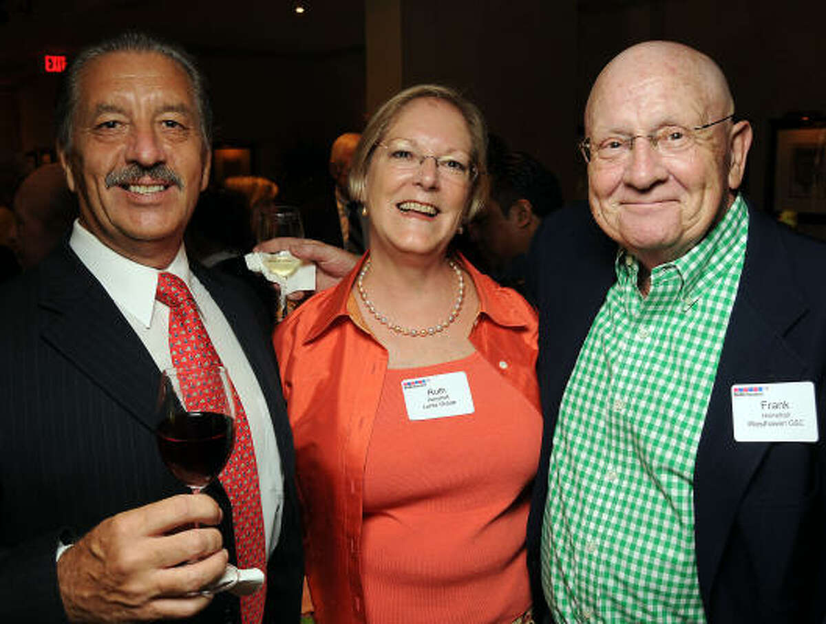 From left: Mike Benson with Ruth and Frank Henshall