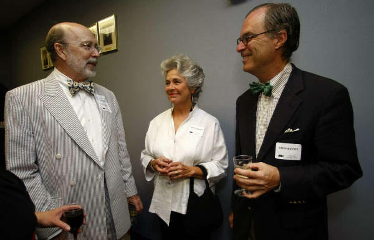C.C. Connor, left, Betty Moody and Stephen Fox