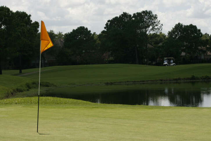 """The Club at Falcon Point, Hole 2    Yardage: 137 yards   No. of Aces: 10     Description:  This one has water on the right and bunkers on both sides of the green. It is a short hole, but the green is not very large, so your tee shot must be accurate.    What a member says:  """"It is one of the easier par-3s because it is not very long. But the green has a lot of break to it and it slopes downhill toward the front of the green. It is a good hole.'' -- Dan Jones, retired member who plays there six days a week."""