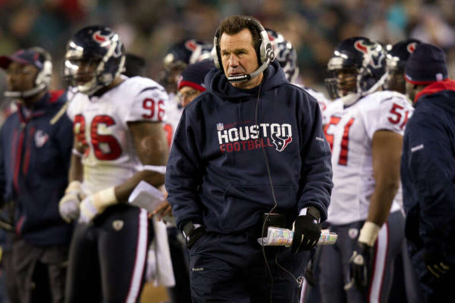 Gary Kubiak hasn't done enough in his five years with the Texans to deserve another year, Jerome Solomon writes. Photo: Smiley N. Pool, Chronicle