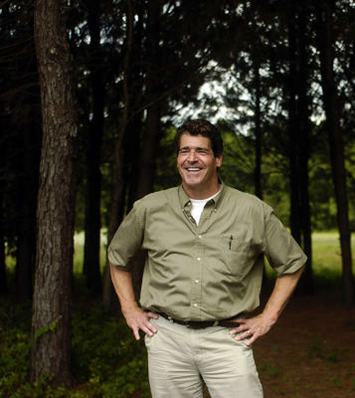 Developer Terry Ward plans to turn 30 acres near Chappell Hill into the greater Houston area's first certified green burial ground.