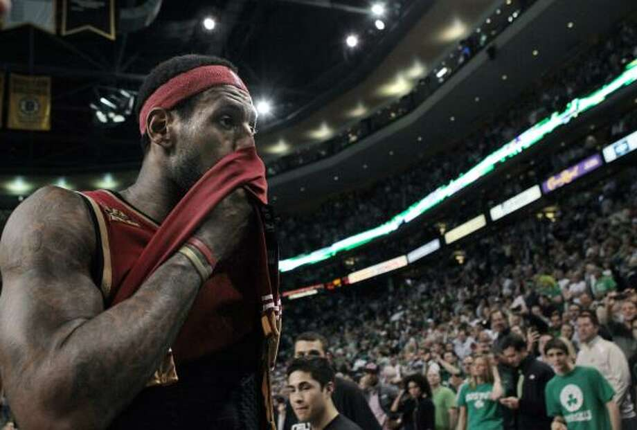 2009-10LeBron James averaged 29.7 points, 8.6 assists and 7.3 rebounds per game in the regular season and won his second consecutive MVP trophy, but the Cavaliers were eliminated from the second round of the Eastern Conference playoffs after winning an NBA-best 61 games. Photo: Elise Amendola, AP