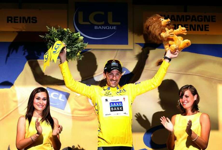 Fabian Cancellara of Switzerland retained his race leader's yellow jersey after Wednesday's stage four. Photo: Bryn Lennon, Getty Images