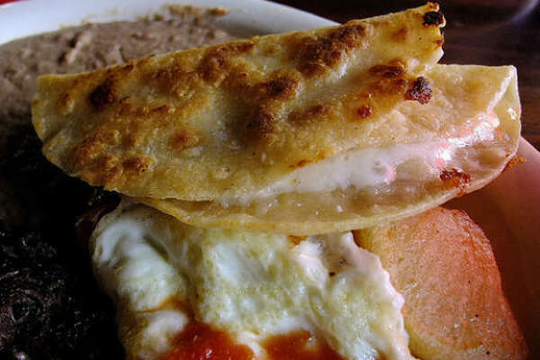 Simple cheese quesadillas on the Reggie's Weekend Special at Taco Haven in San Antonio.  Elemental and stirring.