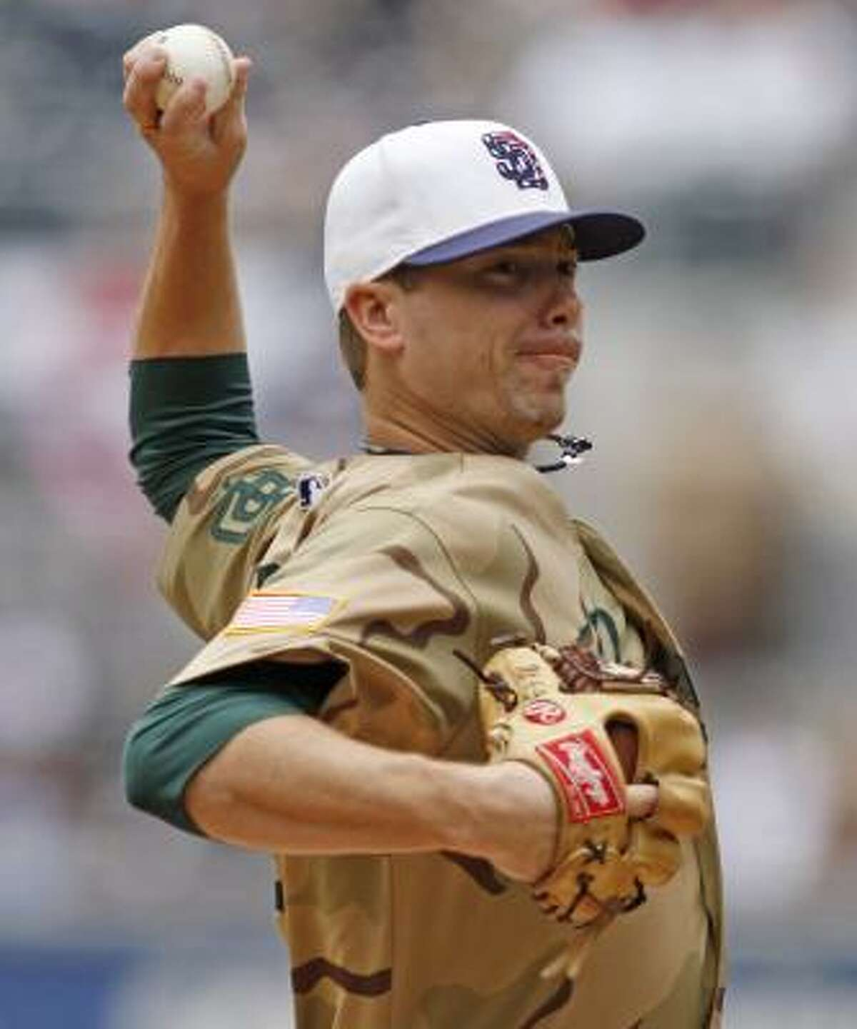 Padres starter Wade LeBlanc held the Astros to one run, Lance Berkman's homer, during 6 2/3 innings.