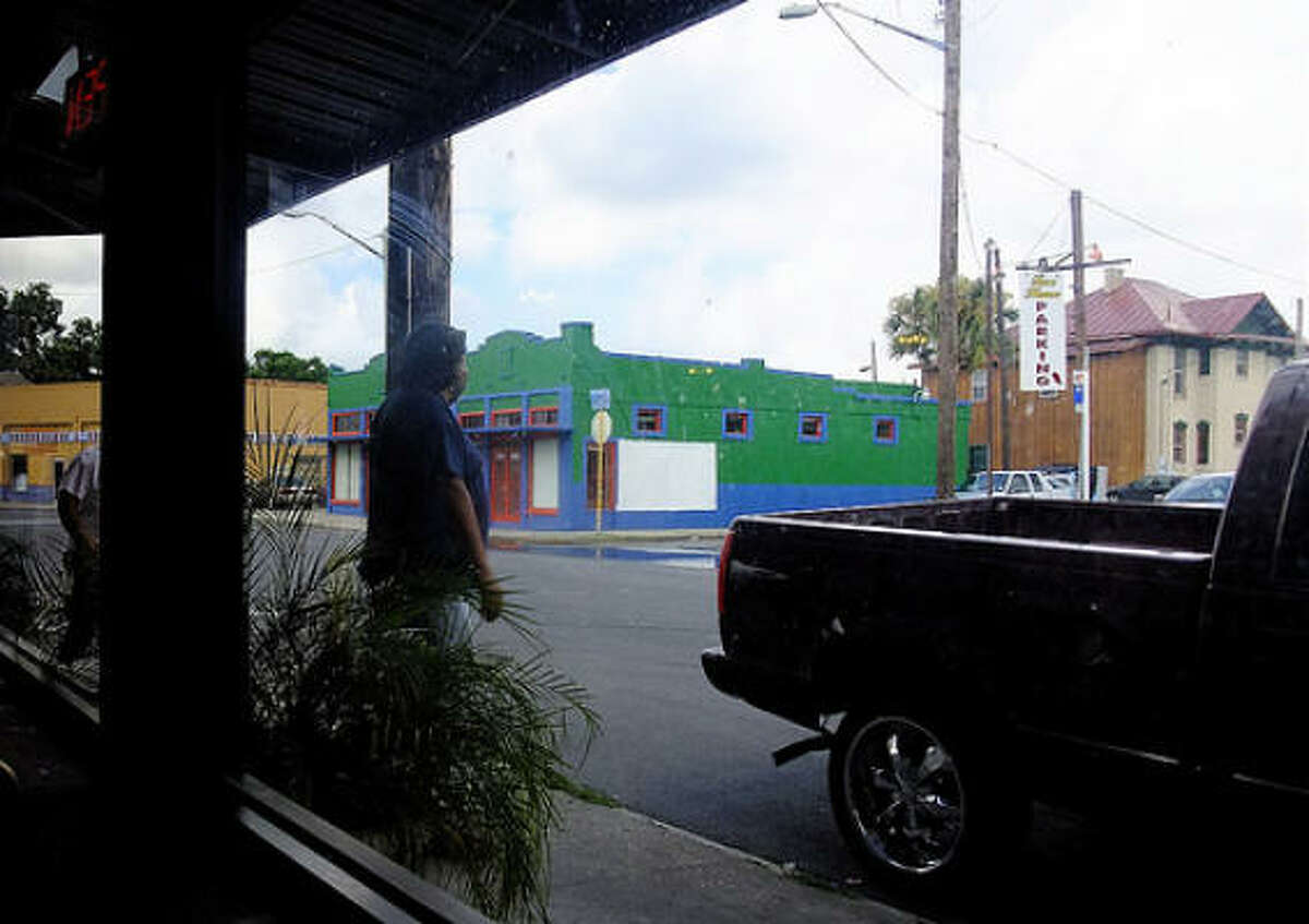 The street view from booth #29 at Taco Haven in San Antonio. The natives call this near-downtown area on the fringe of the King William district