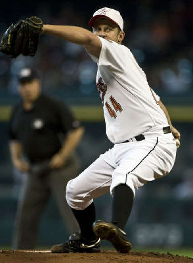 Roy Oswalt went 143-82 in nearly 10 seasons with the Astros. Photo: James Nielsen, Chronicle