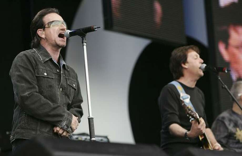 2. London Live 8 London included music legends Bono and Paul McCartney. Photo: MJ Kim, Getty Images