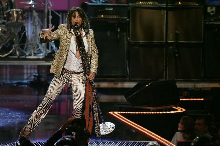 3. New York City Aerosmith's Steven Tyler belts it out at Radio City Music Hall. Photo: Bryan Bedder, Getty Images