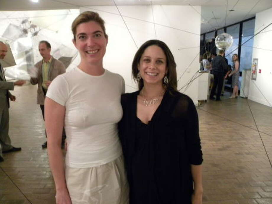 Claudia Schmuckli and Karen Farber at a Contemporary Salon presented by the University of Houston Cynthia Woods Mitchell Center for the Arts and Blaffer Art Museum. Photo: Douglas Britt, Chronicle