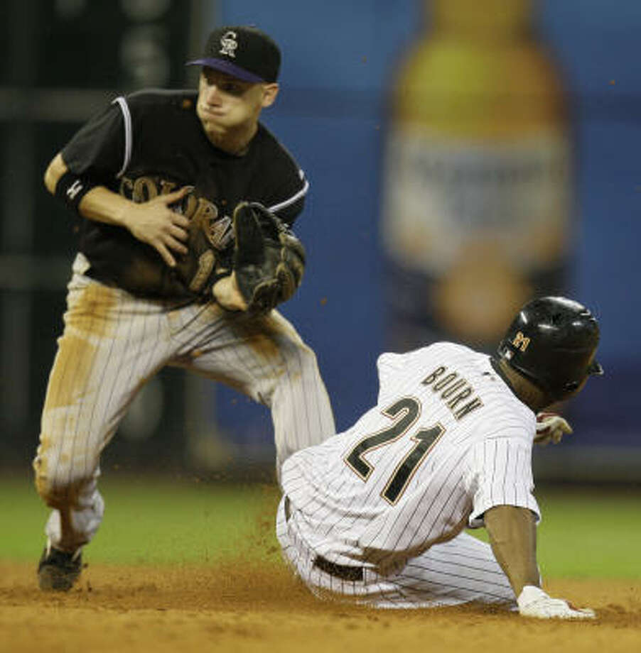 Clint Barmes, left, can play second or shortstop. Photo: Melissa Phillip, Chronicle