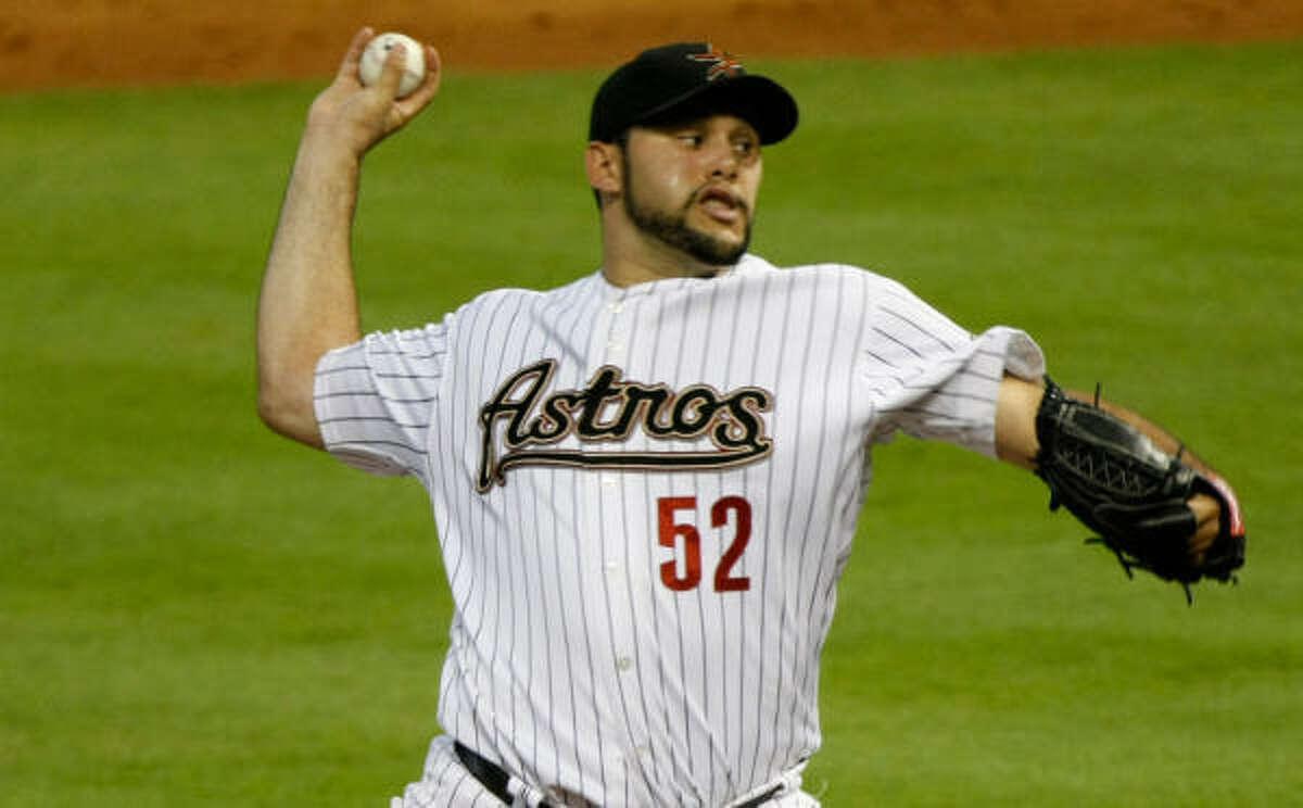 Pitcher Felipe Paulino had been in the Astros organization since 2001.