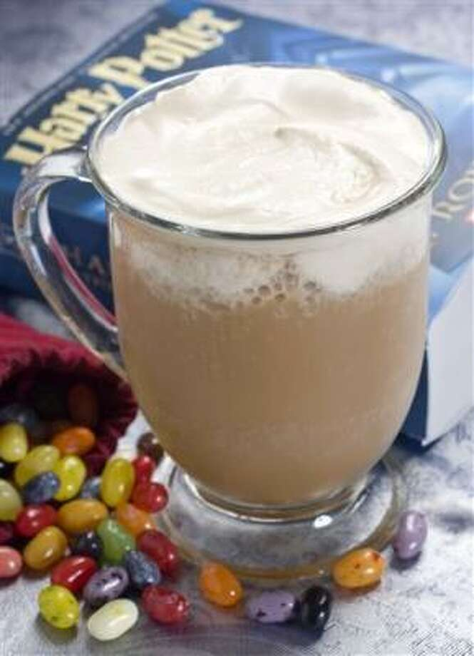 Butterbeer, the drink of choice in the popular Harry Potter book series, in now the drink of choice at the new Wizarding World of Harry Potter at Universal Orlando in Florida. Photo: Larry Crowe, AP