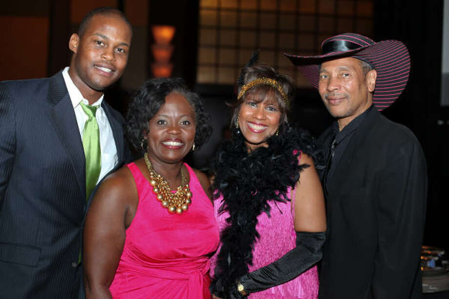 From left: Kenan Hale, Janice Hale-Harris, Melanie Lawson and John Guess Jr. at the Houston Area Urban League 2010 Equal Opportunity Gala. Photo: Holly Dutton, For The Chronicle