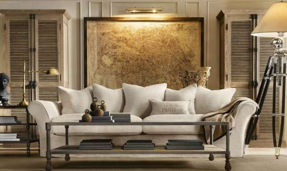 Even Restoration Hardware is getting in on the trend of furniture and accessories that incorporate industrial design. Photo: Restoration Hardware