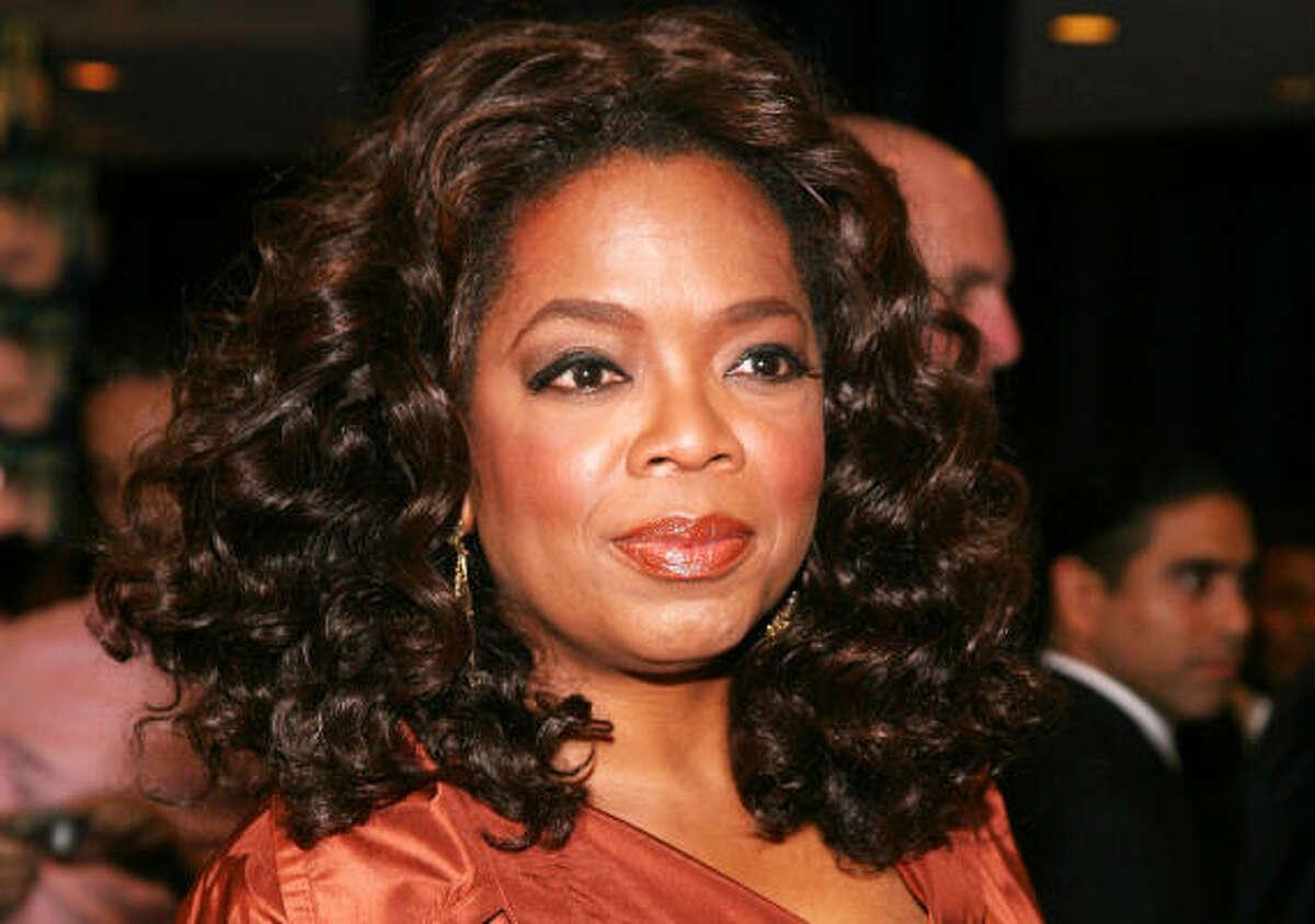 1. Oprah Winfrey 315 million annual earnings