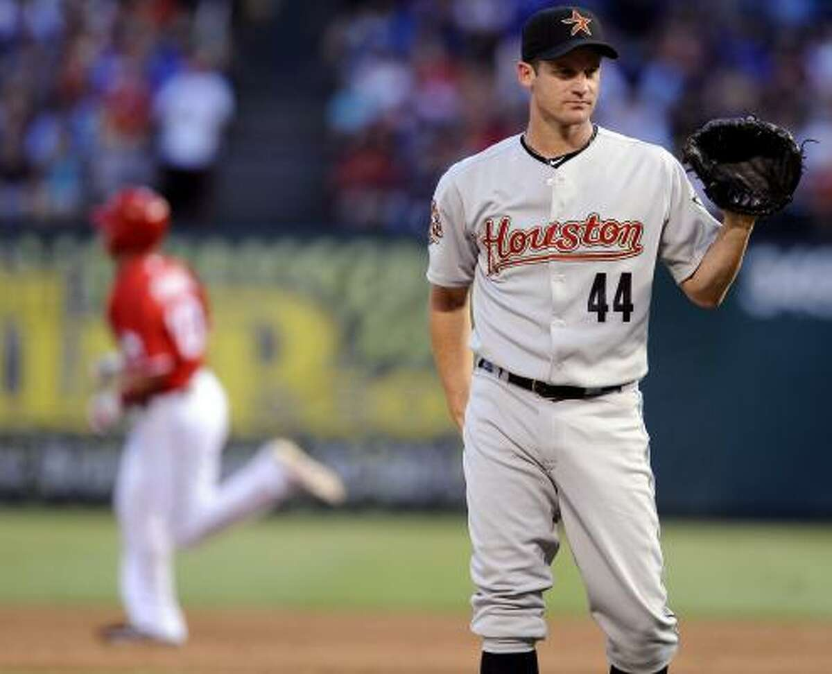 June 27: Rangers 10, Astros 1 Roy Oswalt was roughed up for eight runs (seven earned) in 4 2/3 innings in Sunday's game. Oswalt, who is now 5-10, joined teammate Wandy Rodriguez as the only 10-game losers in the major leagues.
