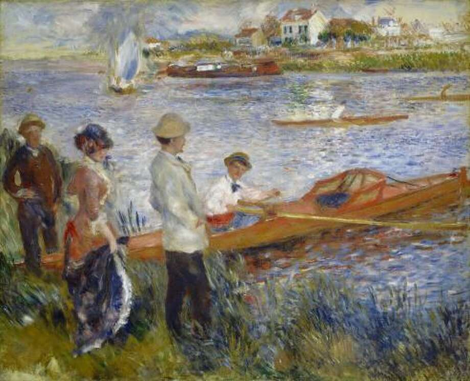 Auguste Renoir's Oarsmen at Chatou (1879) is one of 50 Impressionist and Post-Impressionist paintings by 17 artists from the National Gallery of Art in Washington, D.C. that will go on view at the Museum of Fine Arts, Houston in February. Photo: National Gallery Of Art