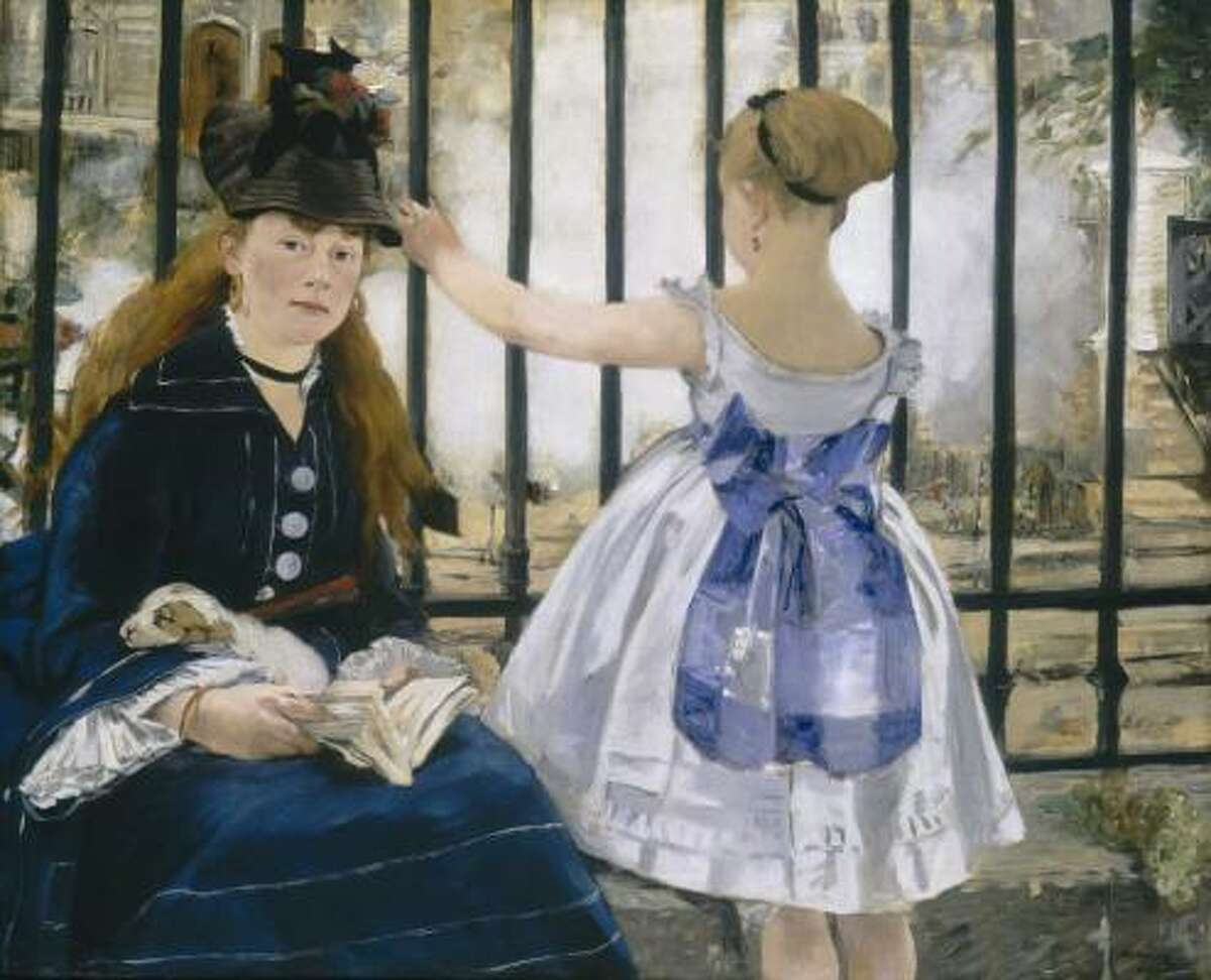 Édouard Manet, French, 1832-1883 The Railway 1873 Oil on canvas The National Gallery of Art, Washington, D.C., Gift of Horace Havemeyer in memory of his mother, Louisine W. Havemeyer, 1956.10.1