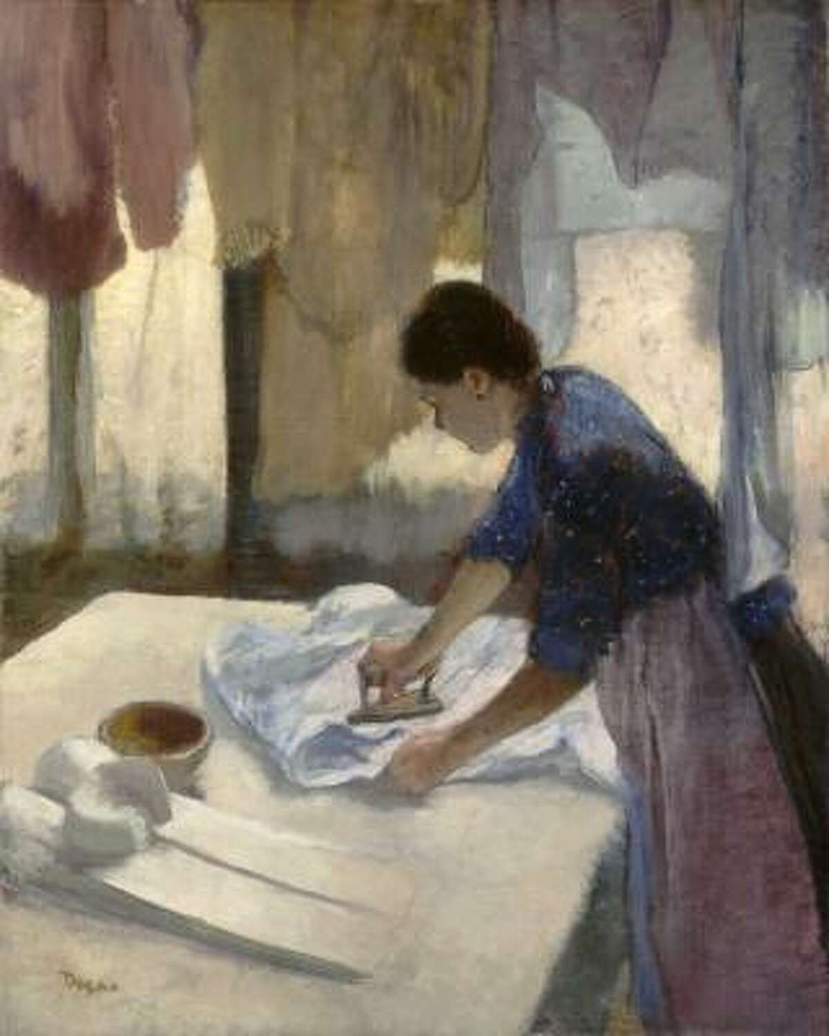 Edgar Degas, French, 1834-1917 Woman Ironing Begun c. 1876, completed c. 1887 Oil on canvas The National Gallery of Art, Washington, D.C., Collection of Mr. and Mrs. Paul Mellon, 1972.74.1