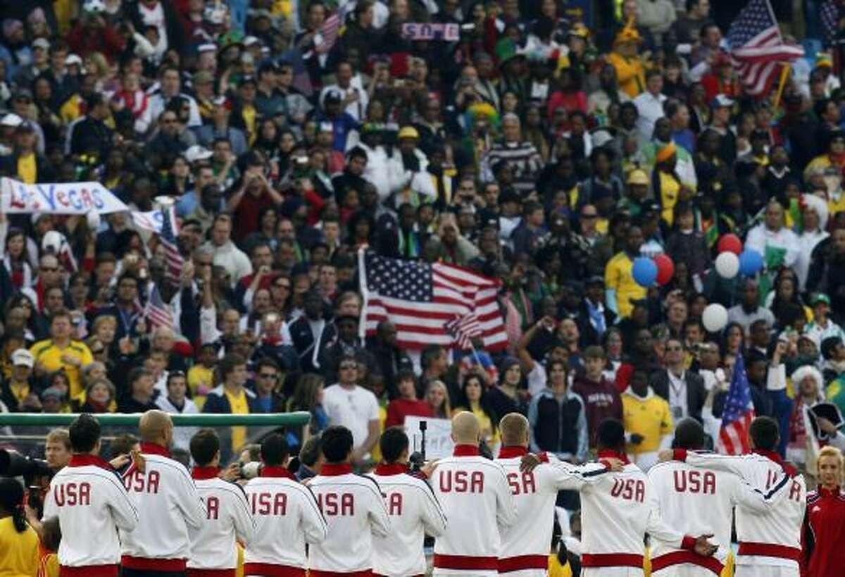 United States players prepare for the decisive match at Loftus Versfeld Stadium in Pretoria.