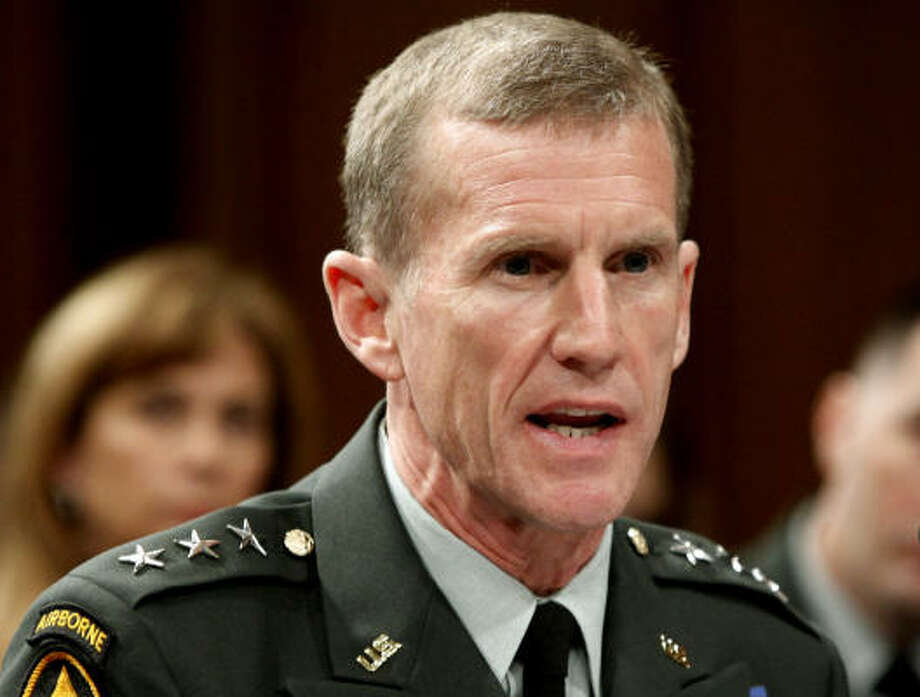President Barack Obama summoned Gen. Stanley McChrystal to Washington from Afghanistan June 22, 2010, after an article in Rolling Stone magazine appeared in which the general made disparaging remarks about the Obama administration. Photo: Manuel Balce Ceneta, AP
