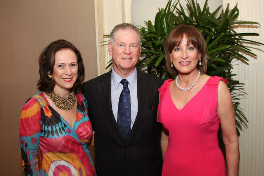 Franelle Rogers, Steve Lasher and Janiece Longoria at an underwriters' party for Communities in Schools Houston's 2010 gala. Photo: Kim Coffman