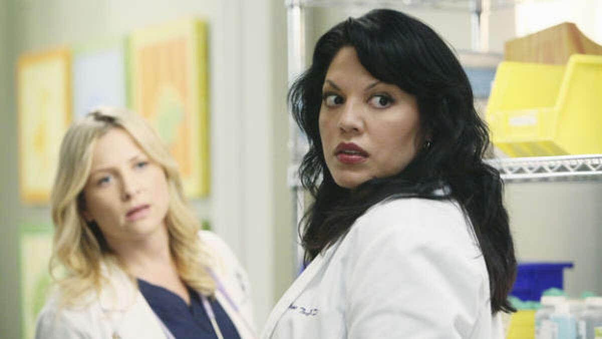 Arizona Robbins (left) and Callie Torres on Grey's Anatomy