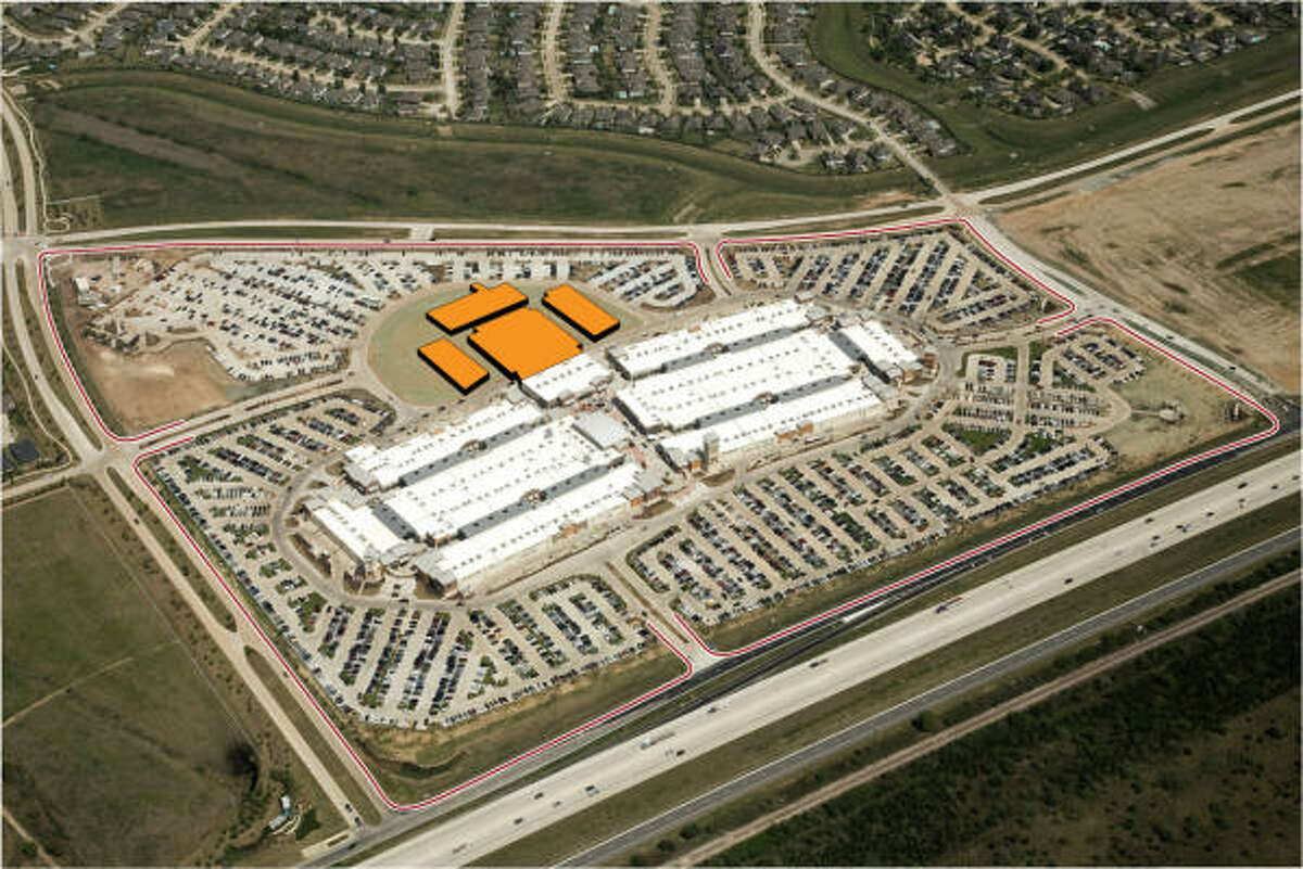 A photo illustration from the developer shows Houston Premium Outlets in Cypress and its expansion area. The 2-year-old center is adding 25 stores, to bring its total to 145.