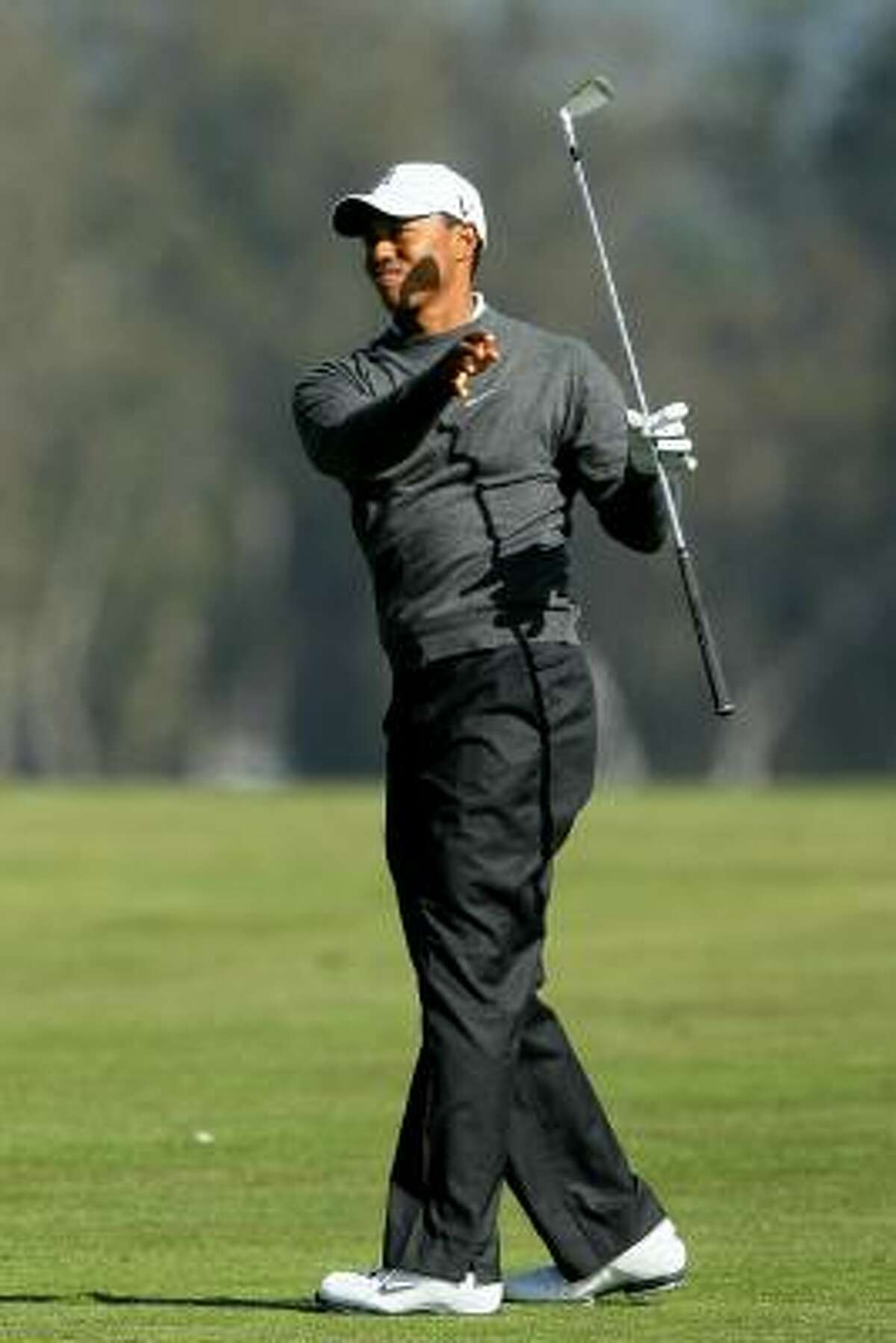 Tiger Woods finished 3-over-par 74 after the first round.