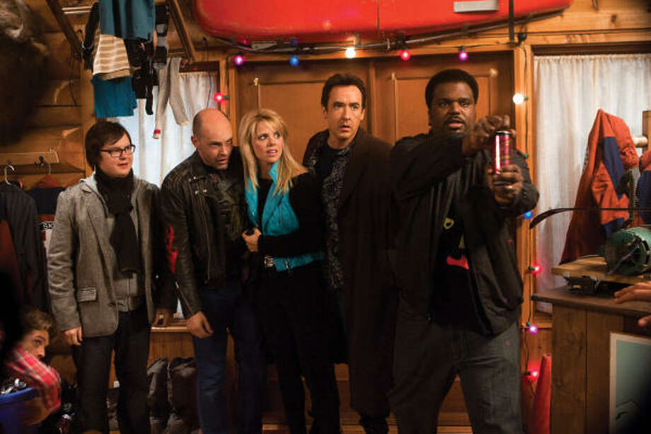 Rob Corddry, from left, Collette Wolfe, John Cusack and Craig Robinson star in Hot Tub Time Machine. Photo: METRO-GOLDWYN-MAYER