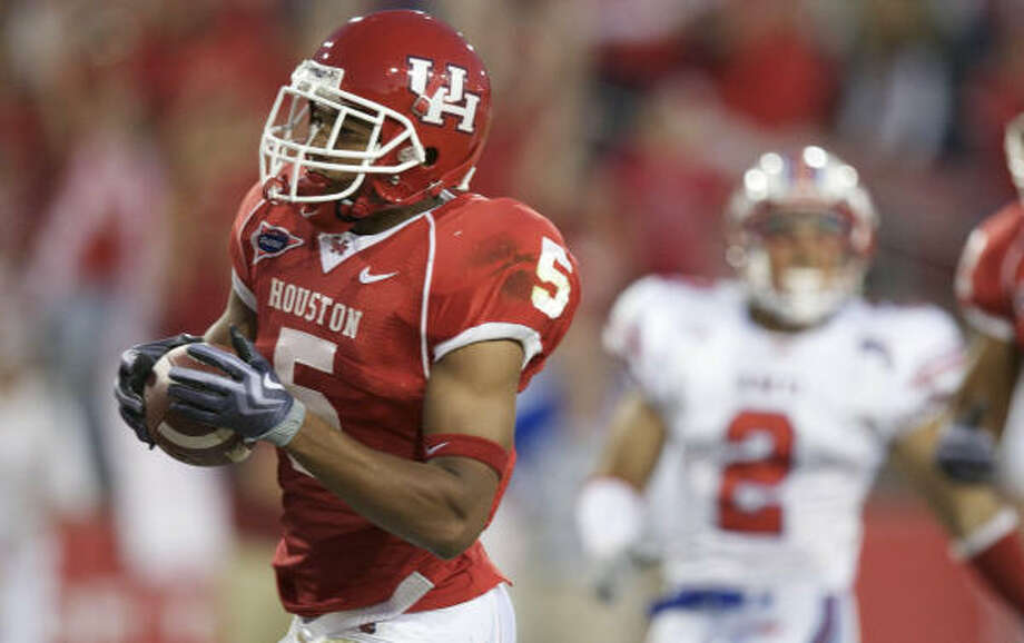 University of Houston running back Charles Sims had a team-leading nine rushing touchdowns as a freshman last season. Photo: Nick De La Torre, Chronicle