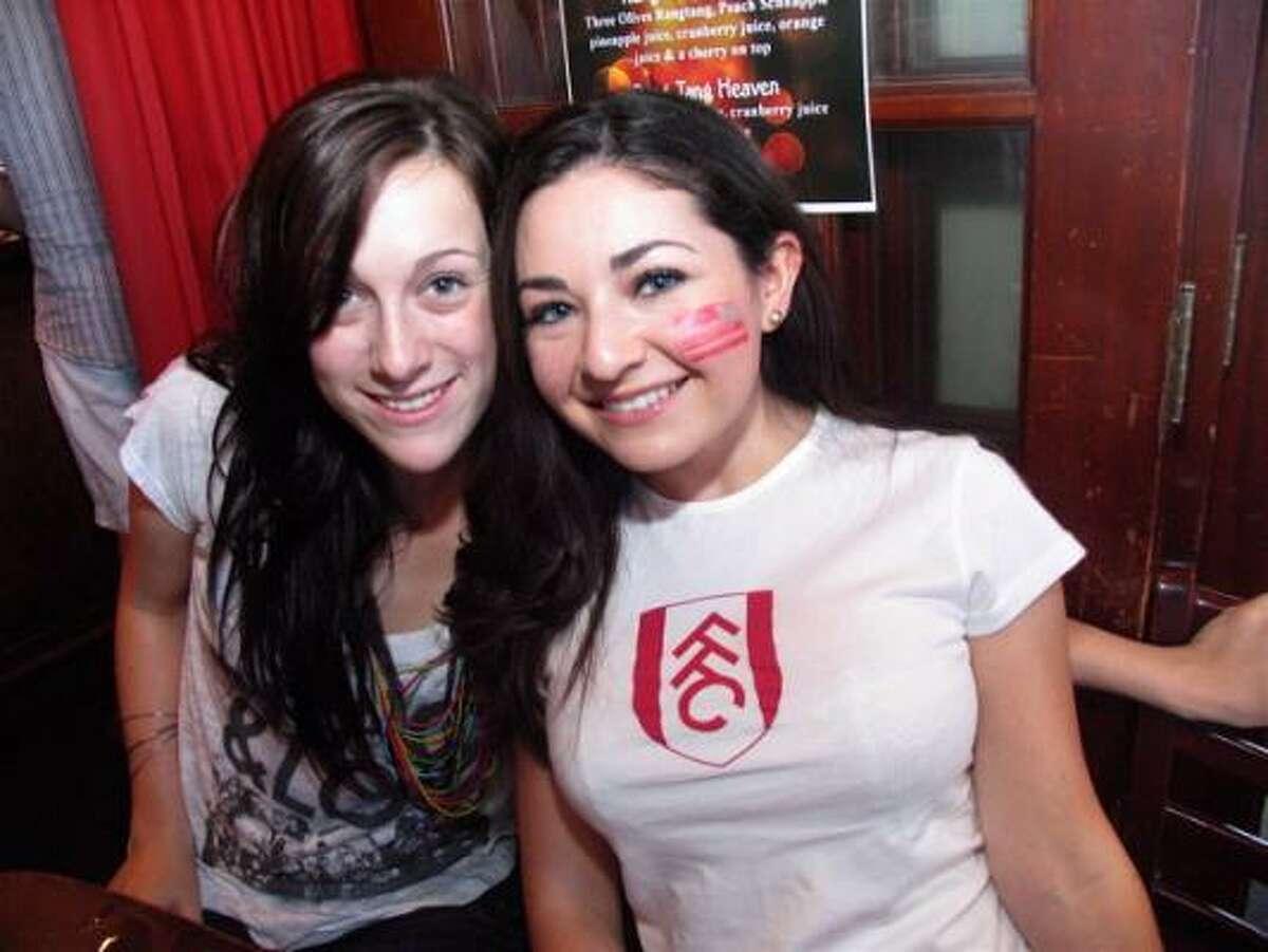 Danielle Mossbarger, left, and Bella Barak