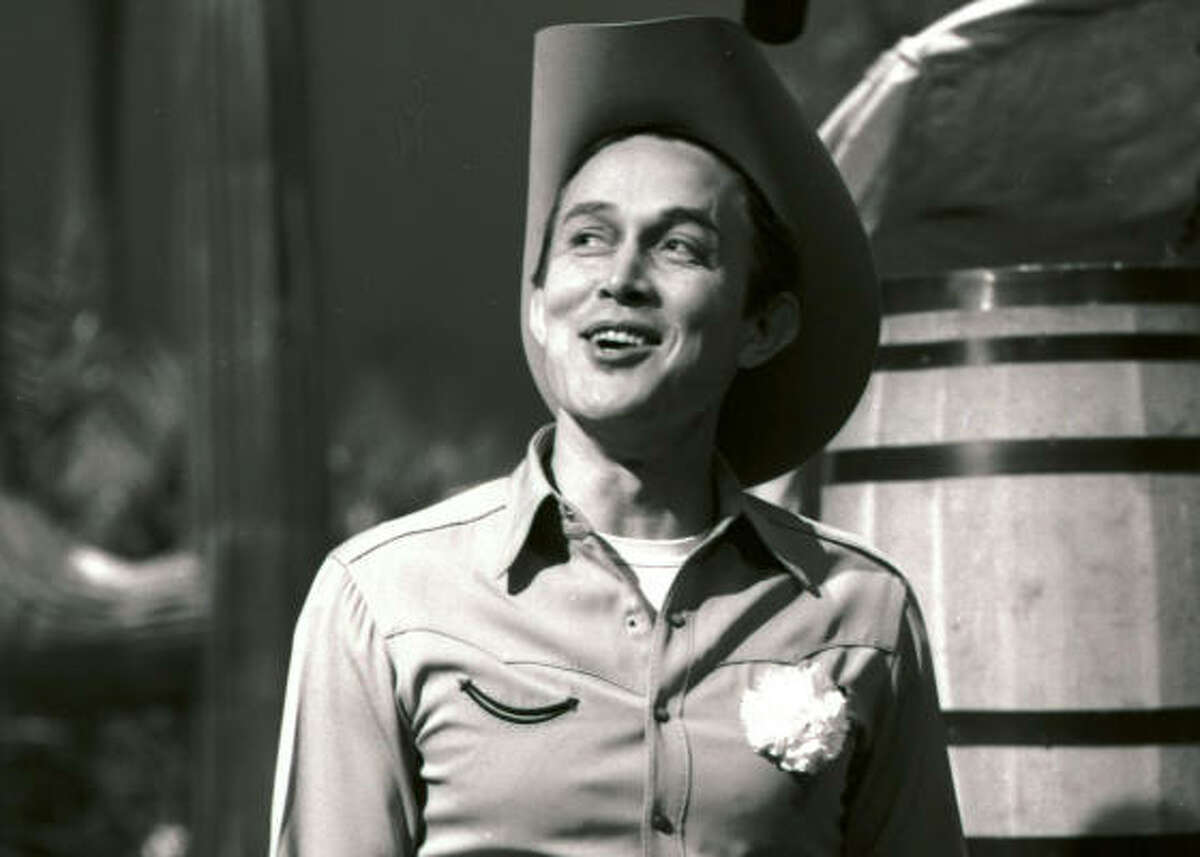 Jimmy Dean is all smiles on the set of The Jimmy Dean Show in New York. He had a successful entertainment career in the 1950s and '60s.