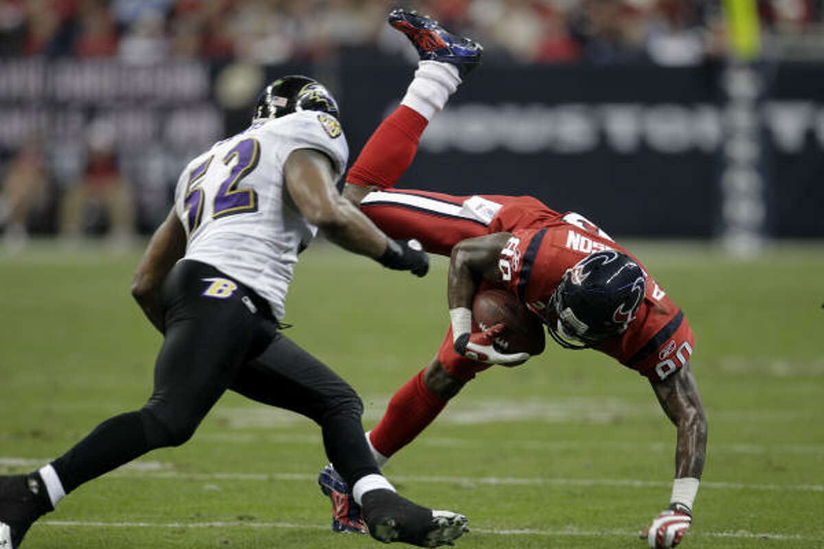 Andre Johnson said he suffered more ankle damage in the Dec. 13 game against Baltimore.