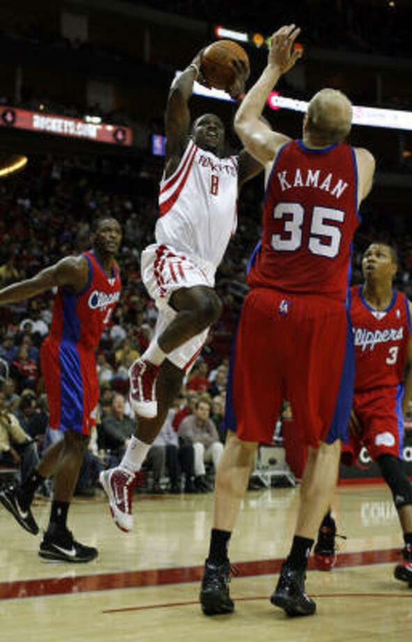 Rookie guard Jermaine Taylor, likely going to Rio Grande Valley, was limited to 17 ½ minutes with the Rockets. Photo: Johnny Hanson, Houston Chronicle