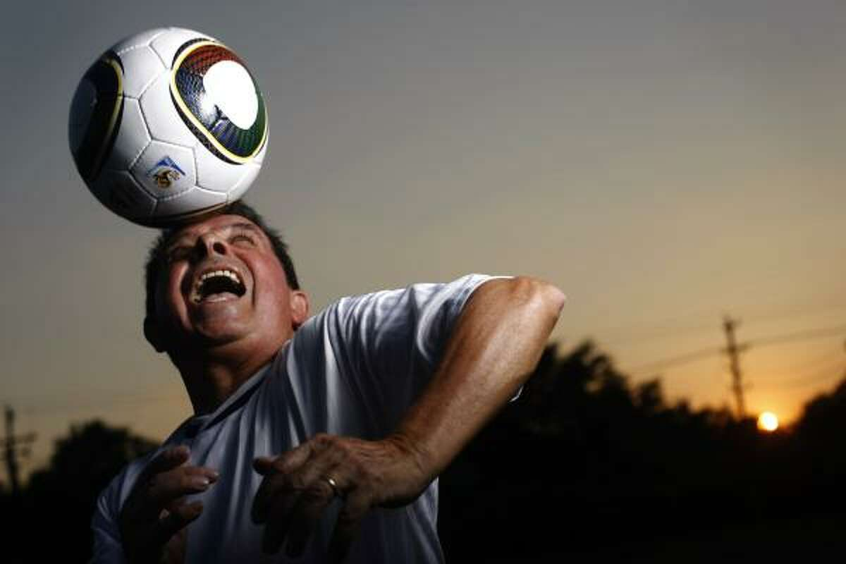Pedro Segura, 72, said he started playing soccer when he was four years old in his home country of Colombia. The retired petroleum engineer said he thinks playing soccer every week has kept him young.