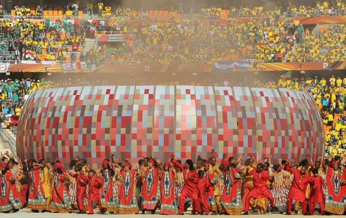 El colorido de la ceremonia fue espectacular y reflejó la cultura sudafricana.