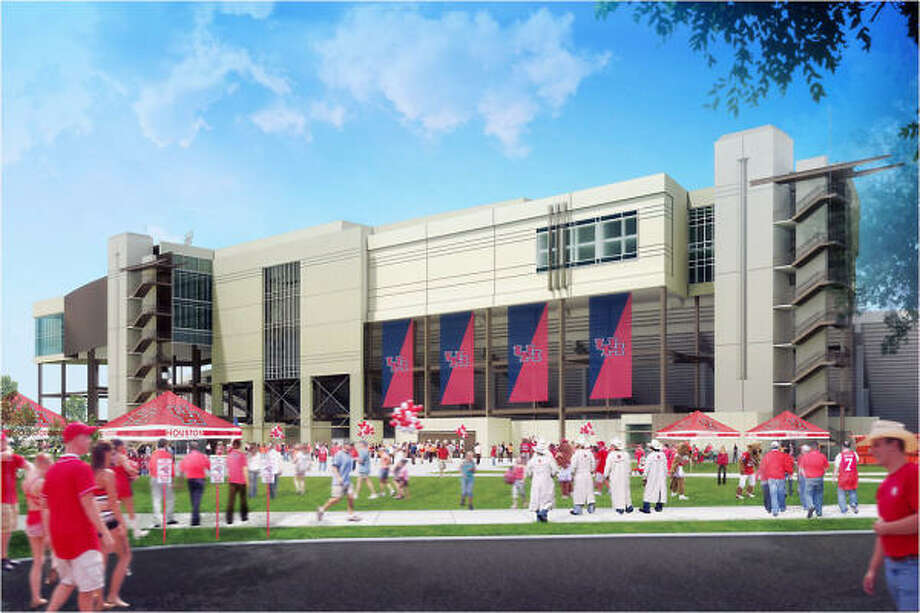 An exterior view of the new stadium to be built on the site of Robertson Stadium. Photo: UH