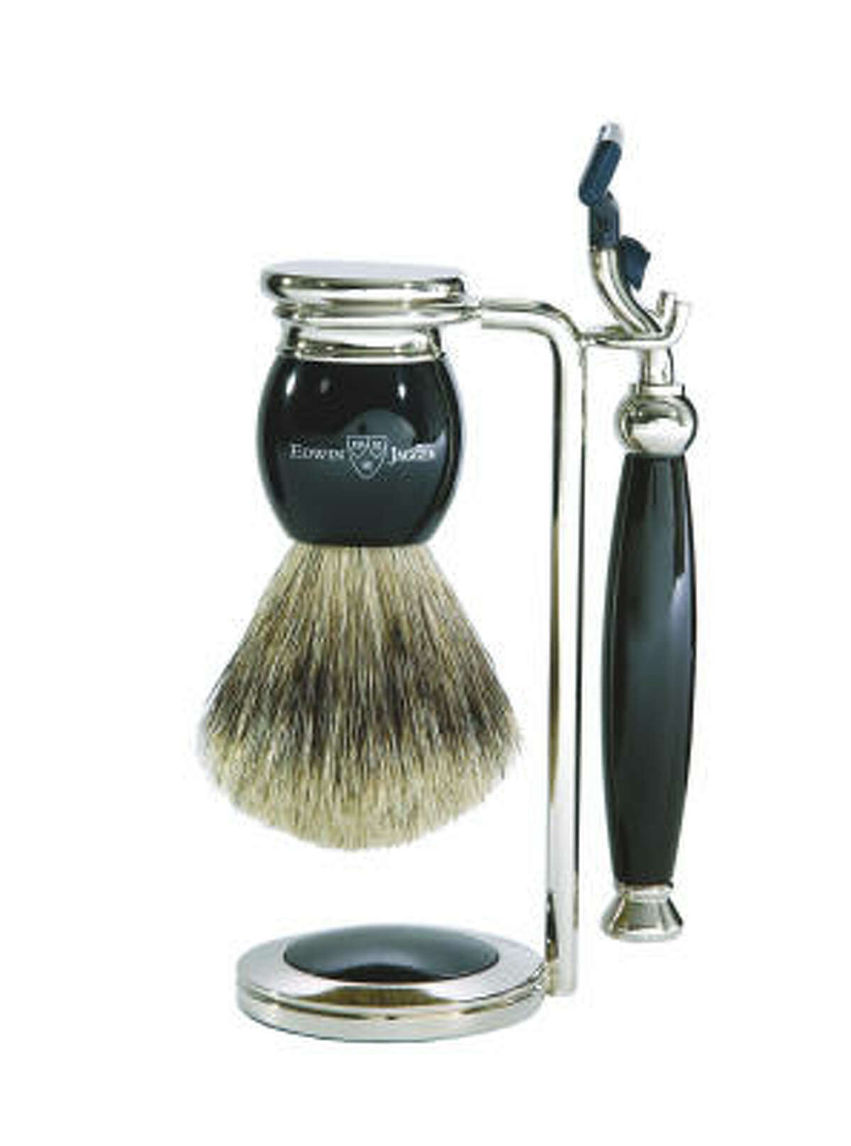Brush up your shaving routine with Edwin Jagger's three-piece shaving set. The English purveyor of hand-crafted shaving accessories makes a variety of handsome shaving tools including this razor and badger brush; $89 at Amazon.com.