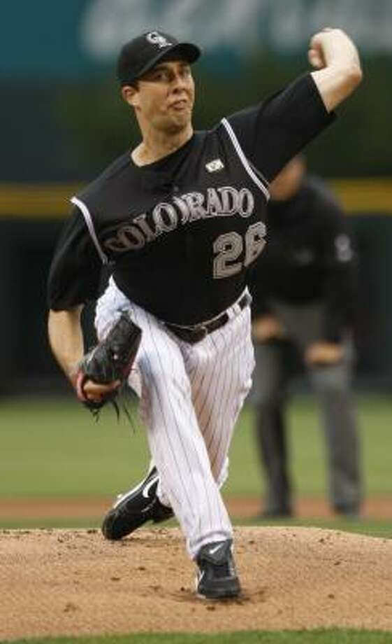 Rockies pitcher Jeff Francis started for the fifth time this season after missing all of last season due to injury. Photo: David Zalubowski, AP