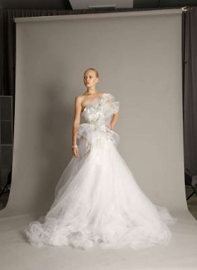 This Marchesa gown will make a bride feel like a princess on her special day. Photo: Seth Wenig, AP