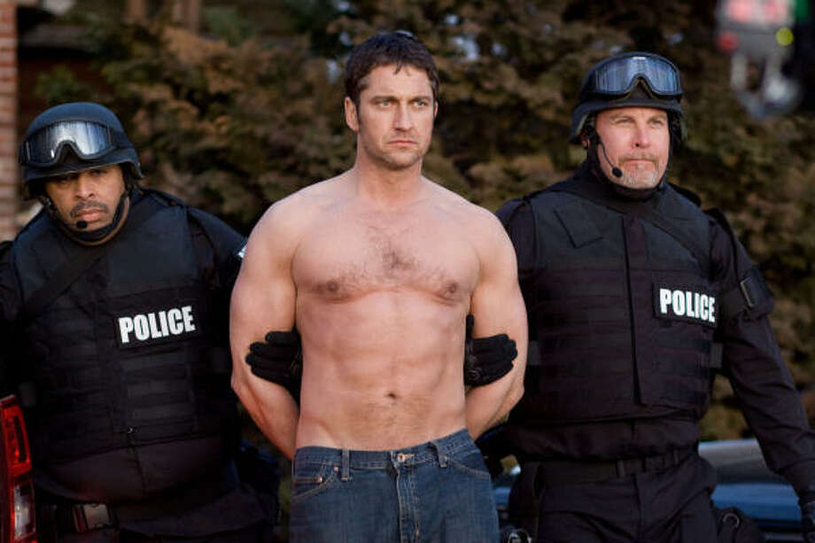 Here he is in Law Abiding Citizen showing off his abs again. Photo: John Baer, Overture Films