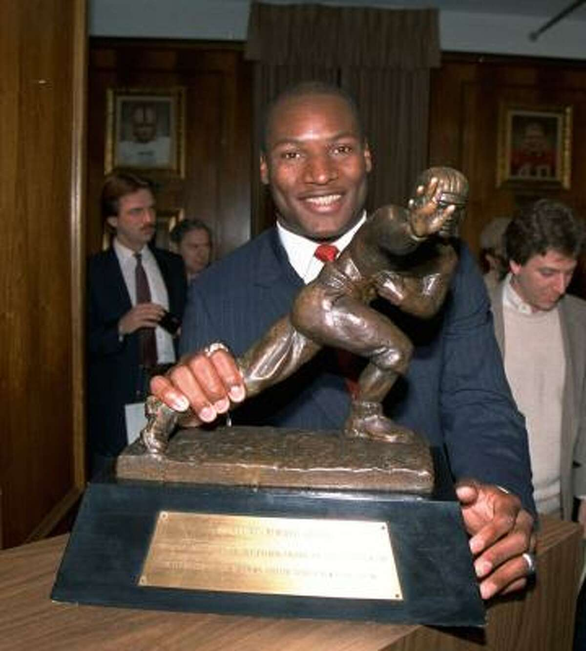 Bo Jackson Baseball: MLB OF, 1986-1994 Football: NFL RB, 1987-1990 Summary: Jackson won the Heisman in 1985 at Auburn and was the top pick by the Bucs in the 1986 NFL draft, but he signed with the Kansas City Royals instead. He was the MLB All-Star Game MVP in 1989 and earned a Pro Bowl selection with the Raiders the following year. A football hip injury suffered in 1991 plagued the rest of his short career.