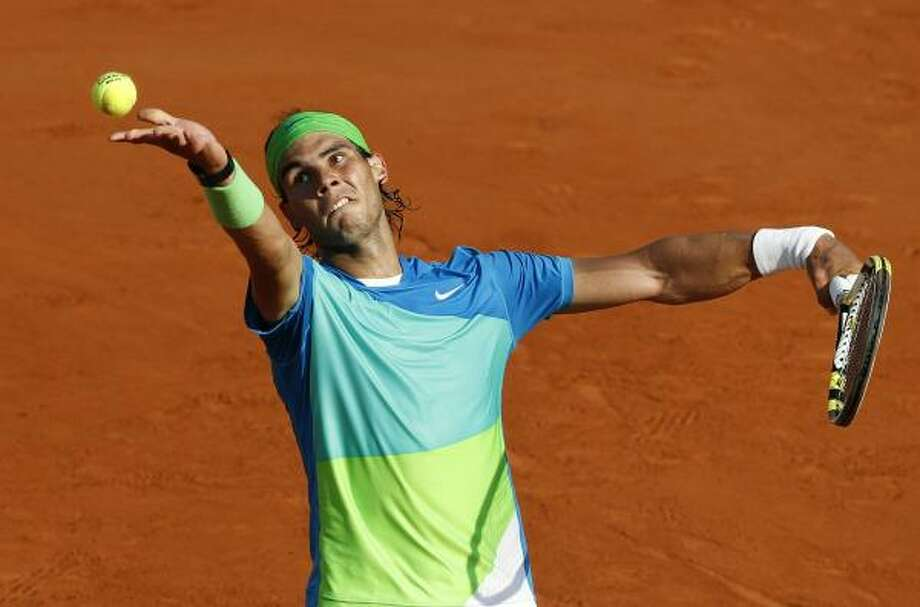 June 4: SemifinalsRafael Nadal beat Jurgen Melzer 6-2, 6-3, 7-6 (6) to advance to the championship round. Nadal will face Robin Soderling. Photo: PATRICK KOVARIK, AFP/Getty Images