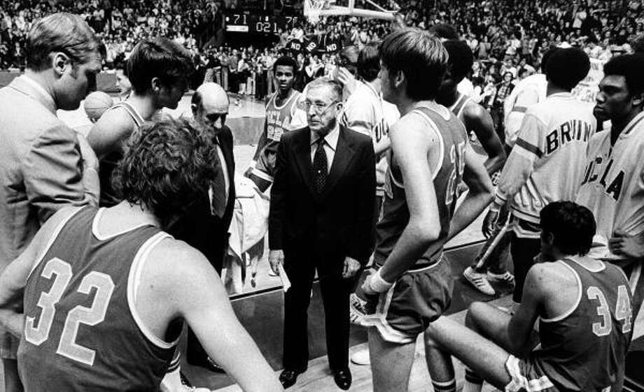 Wooden won a record 10 NCAA championships, including seven consecutive (1966-73). Photo: AP