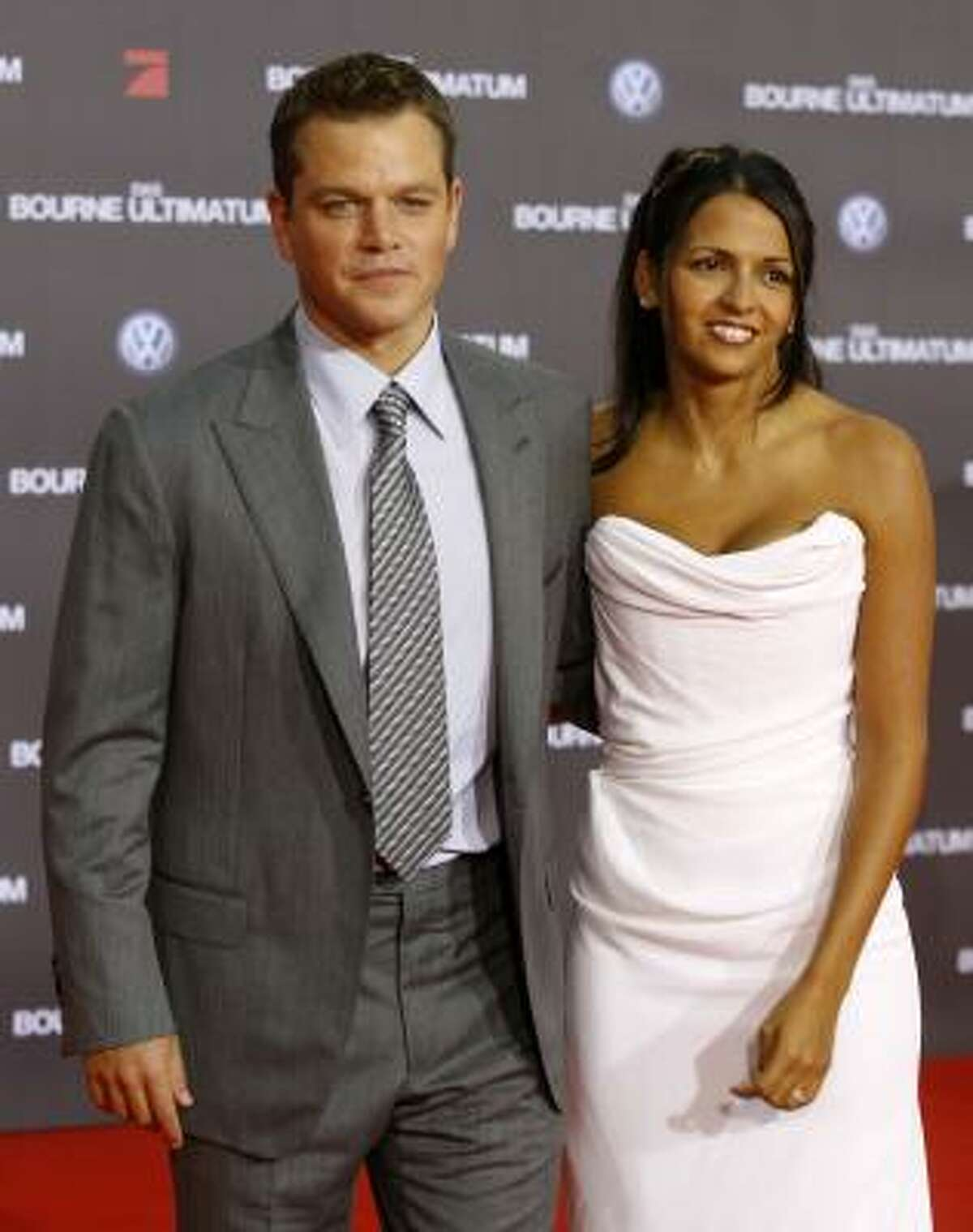 Matt Damon became stepdad to then 7-year-old Alexia when he married Luciana Bozan in 2006.